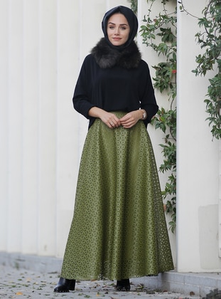Green - Fully Lined - Skirt