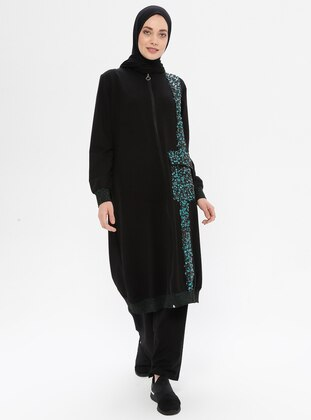 Black - Unlined -  - Suit