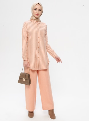 Orange - Stripe - Unlined - Suit