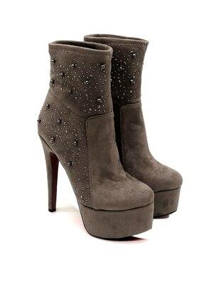 Gray - Stone - High Heel - Heels