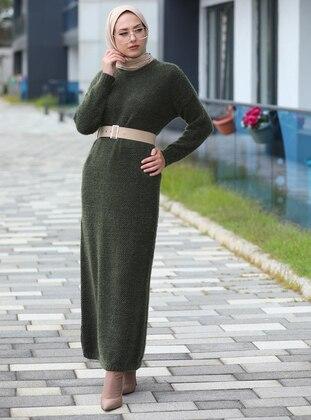 Khaki - Knit Dresses