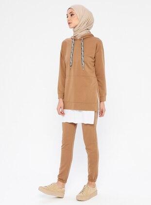 Camel - Unlined -  - Suit