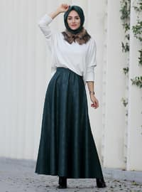 Green - Fully Lined - Skirt