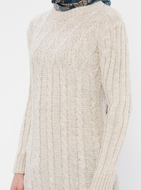 Stone - Crew neck - Acrylic -  - Wool Blend - Tunic