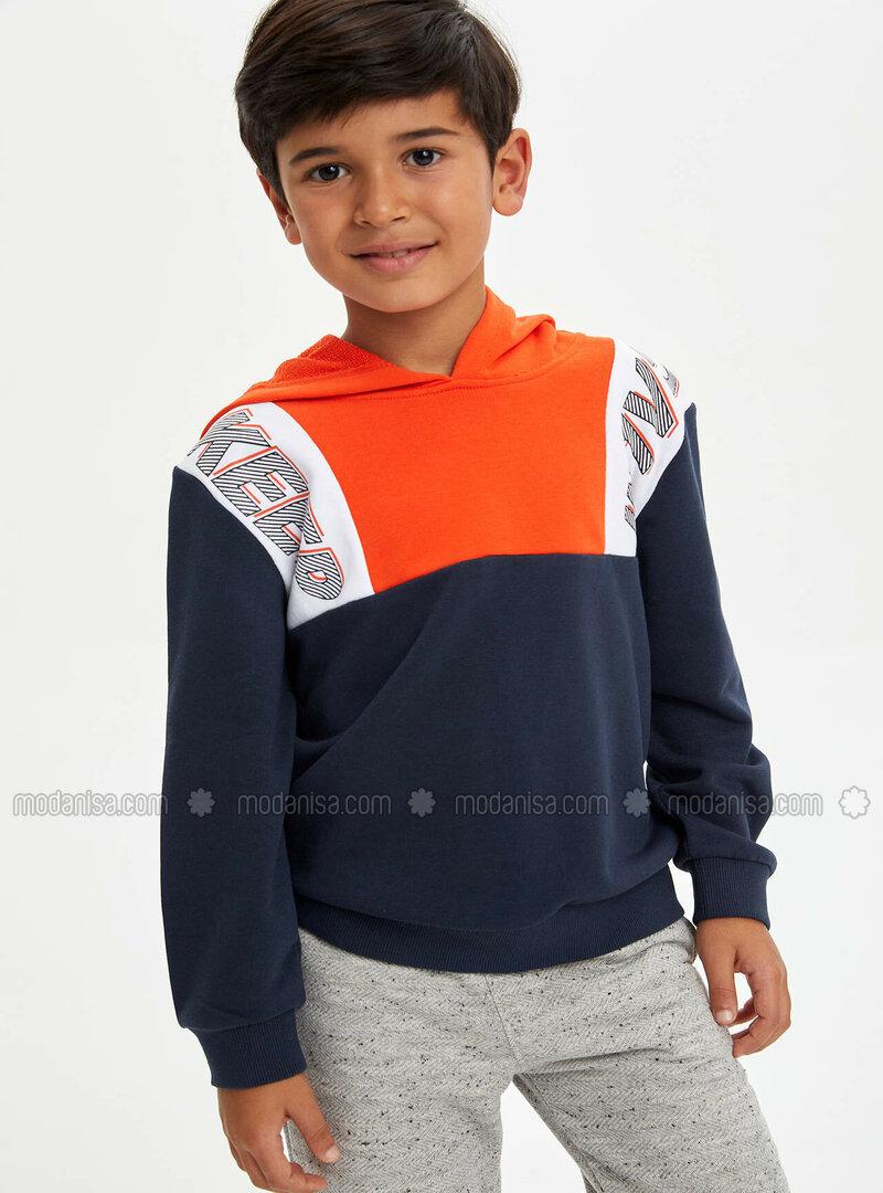 Orange - Boys` Sweatshirt