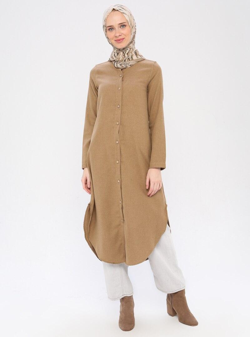 Tesettür Tunik Fular Store Vizon Kadın 42