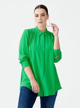 Green - Blouses - Gala-xi