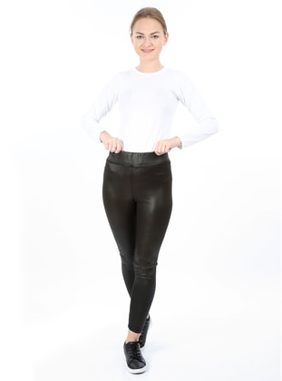 Black -  - Legging - AKBENİZ