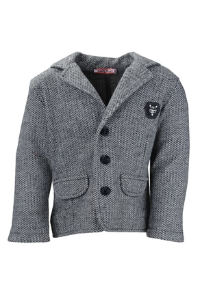 Shawl Collar -  - Viscose - Gray - Boys` Jacket - Zeyland