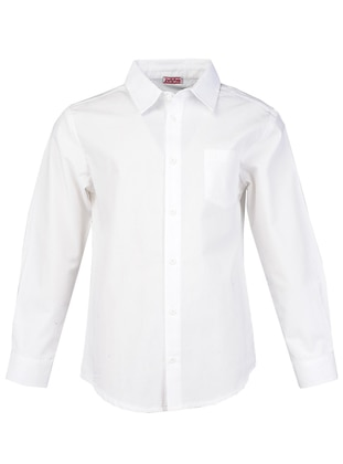 Multi - Point Collar -  - Unlined - White - Ecru - Boys` Shirt