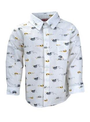Multi - Point Collar -  - Unlined - Cinnamon - Boys` Shirt