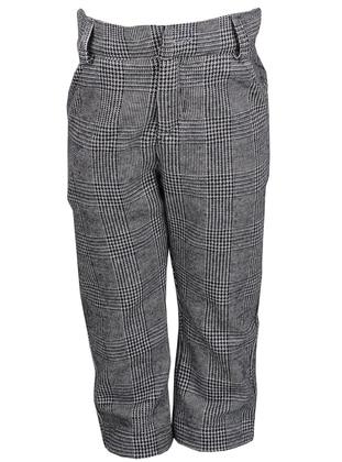 - Viscose - Gray - Boys` Pants