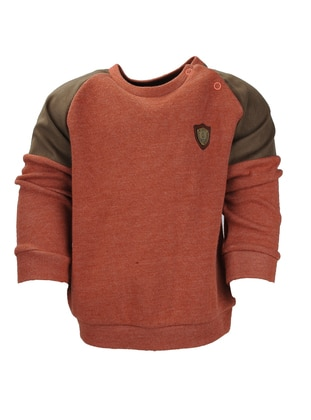 Crew neck -  - Unlined - Cinnamon - Boys` Sweatshirt