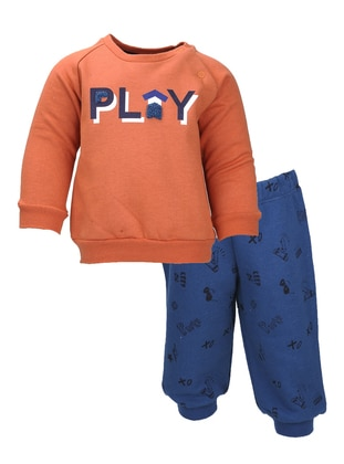Multi - Crew neck -  - Unlined - Orange - Boys` Suit