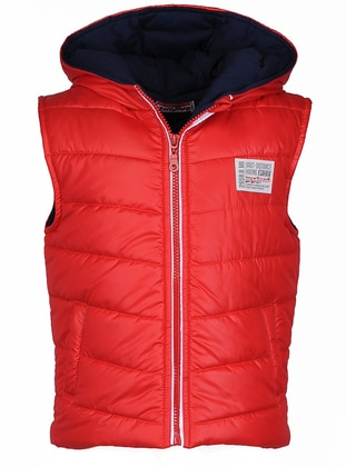 Polo neck - Fully Lined - Red - Boys` Vest