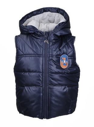 - Fully Lined - Navy Blue - Boys` Vest