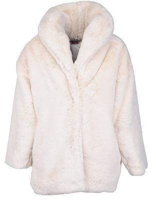 Polo neck - Beige - Girls` Coat - Zeyland