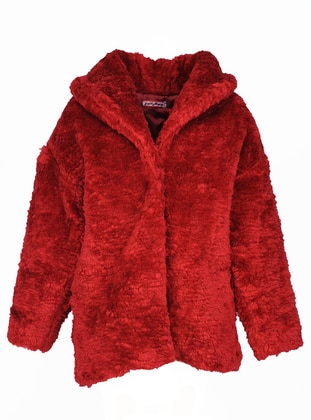 Polo neck - Red - Girls` Coat