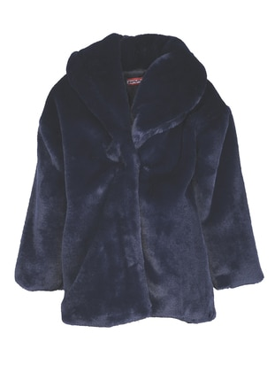 Polo neck - Navy Blue - Girls` Coat
