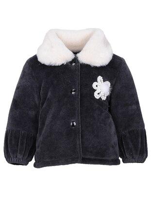 Point Collar -  - Anthracite - Girls` Jacket