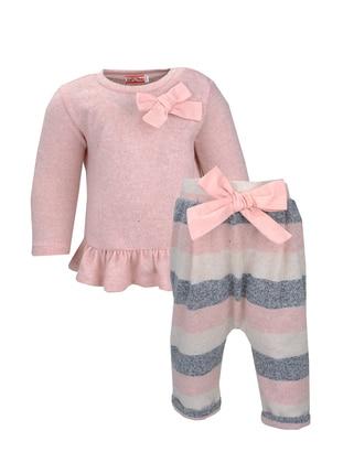 Crew neck - Viscose - Unlined - Pink - Girls` Suit