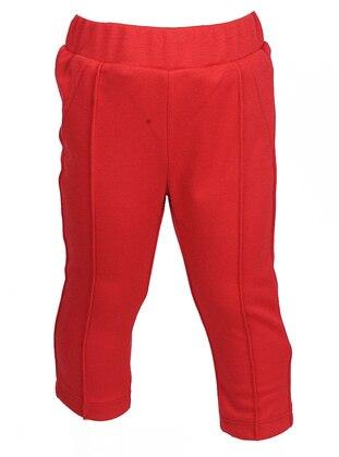 Viscose - Red - Girls` Leggings