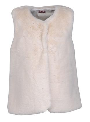 Crew neck - Beige - Girls` Vest