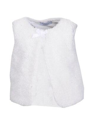 Crew neck - Fully Lined - Ecru - Girls` Vest