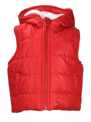 Fully Lined - Red - Girls` Vest