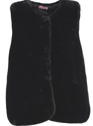 Crew neck - Black - Girls` Vest