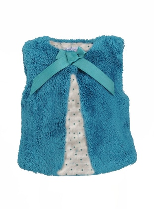 Crew neck -  - Green - Girls` Vest