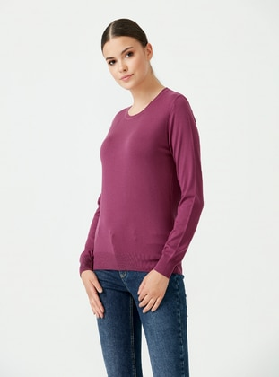 Purple - Knit Tunics