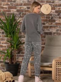 Anthracite - Crew neck - Multi -  - Pyjama Set