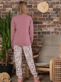 Dusty Rose - Crew neck - Multi -  - Pyjama Set