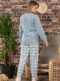 Green - Crew neck - Pyjama Set