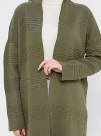 Khaki - Acrylic -  - Tunic