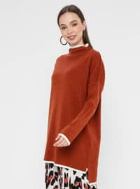 Cinnamon - Polo neck - Acrylic -  - Tunic