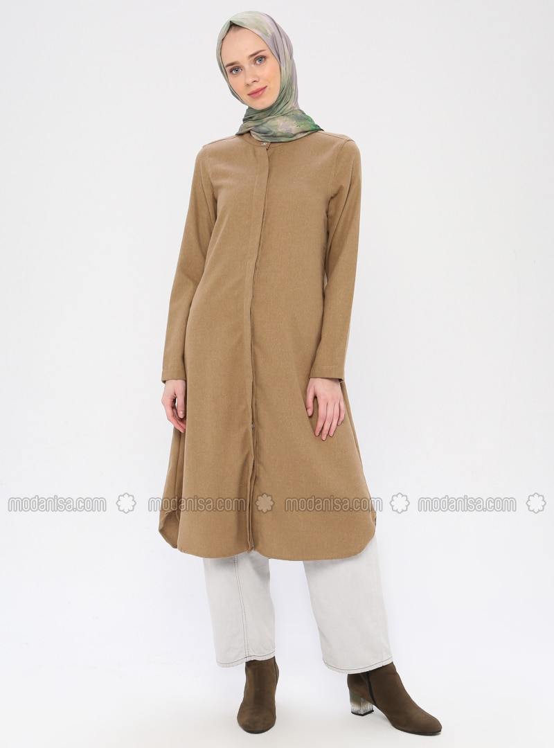 Mink - Point Collar -  - Viscose - Tunic