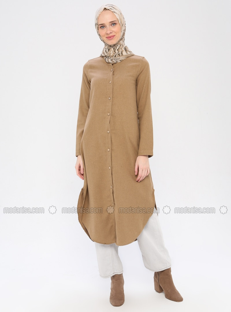 Mink - Crew neck -  - Viscose - Tunic