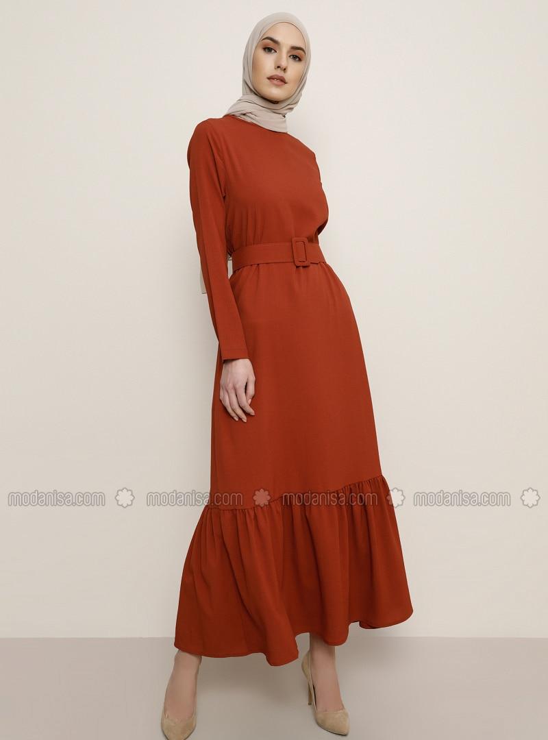 Terra Cotta - Terra Cotta - Crew neck - Unlined - Dress