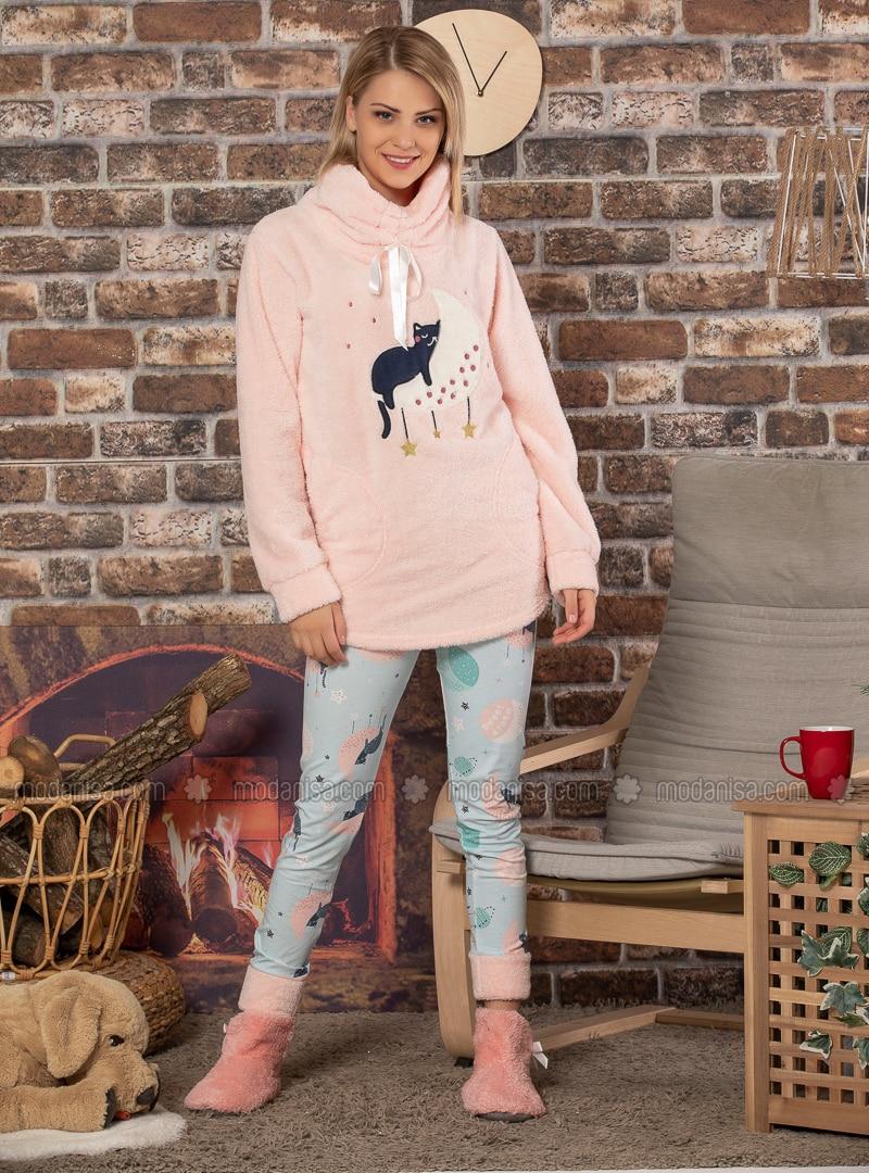 Salmon - Crew neck - Pyjama Set