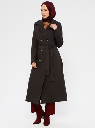 Anthracite - Fully Lined - Shawl Collar - Coat