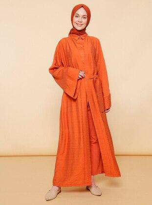 Cinnamon - Unlined - Acrylic -  - Abaya