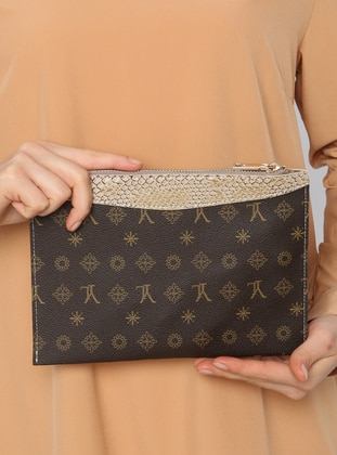Brown - Mink - Clutch Bags / Handbags