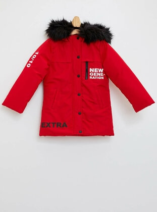 Red - Girls` Jacket