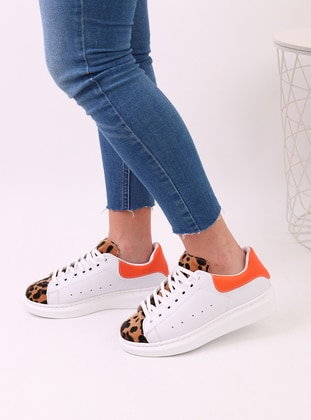 White - Orange - Sport - Sports Shoes