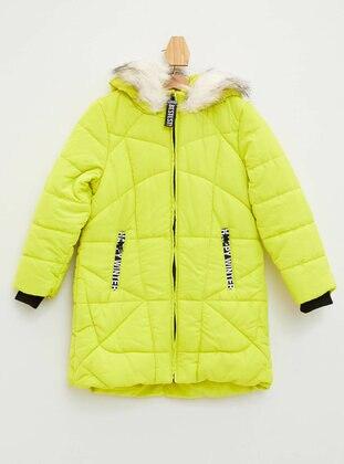 Green - Girls` Jacket - DeFacto