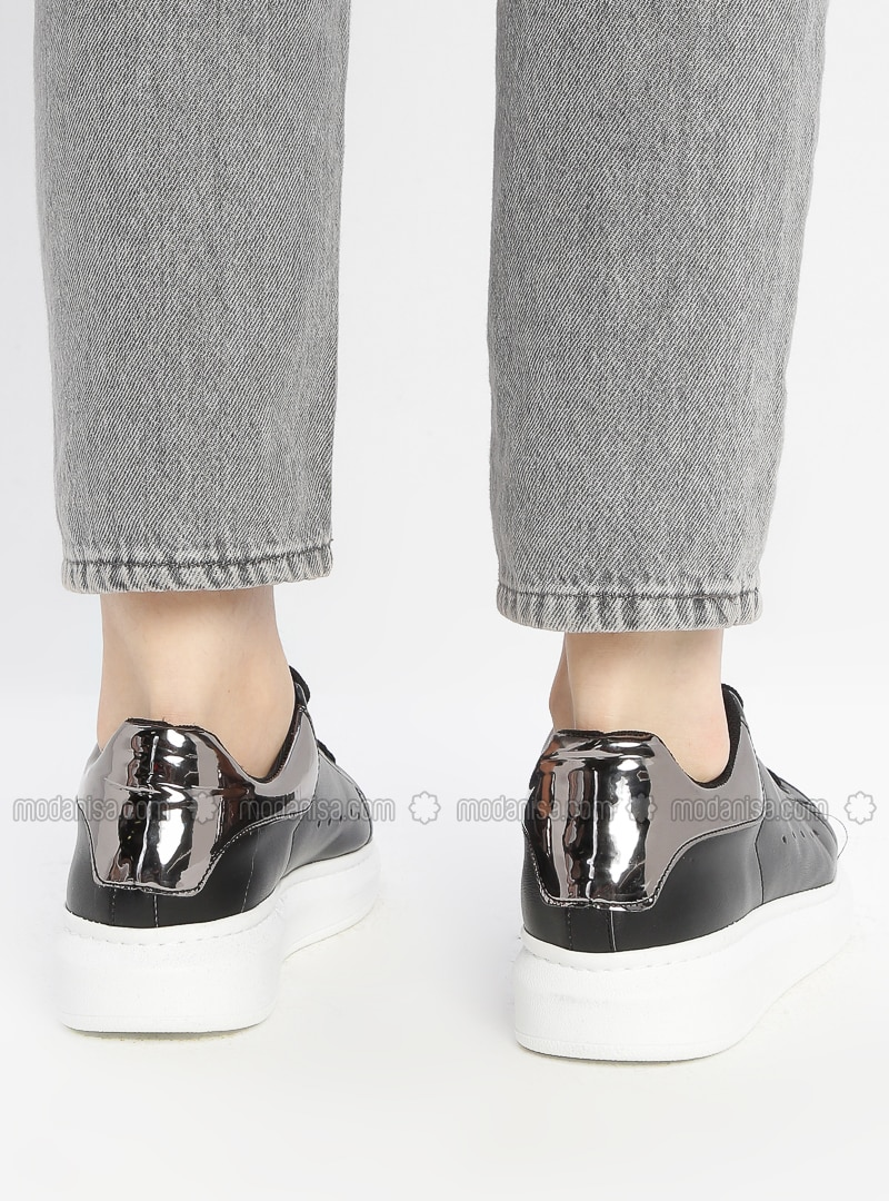 Silver - Black - Casual - Shoes