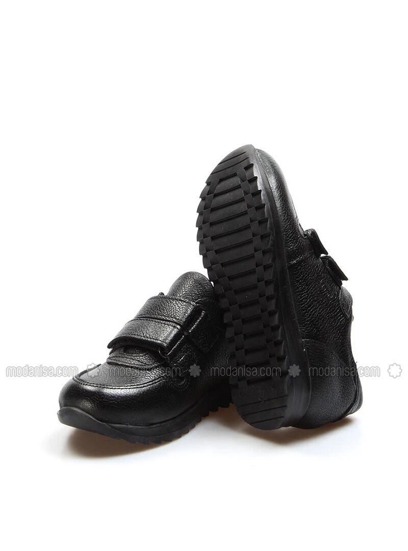 Black - Casual - Boys` Shoes