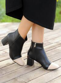 Cream - Black - Boot - Boots